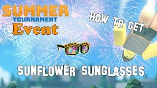 How to Get the Sunflower Sunglasses - ROBLOX Summer Tournament EVENT (The Doom Wall II: Burst)