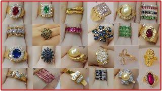 ALTIN YÜZÜK MODELLERİ TAŞLI 2018 MODELLER Women Latest Gold Ring Designs  Simple Gold Ring Designs
