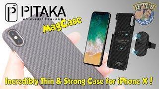 Pitaka MagCase - Super Thin & Strong Amarid Fibre case for iPhone X !