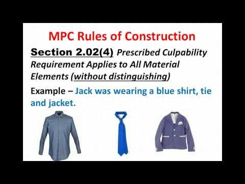 Criminal Law Guttenberg VP3 MPC Interpretation Rules