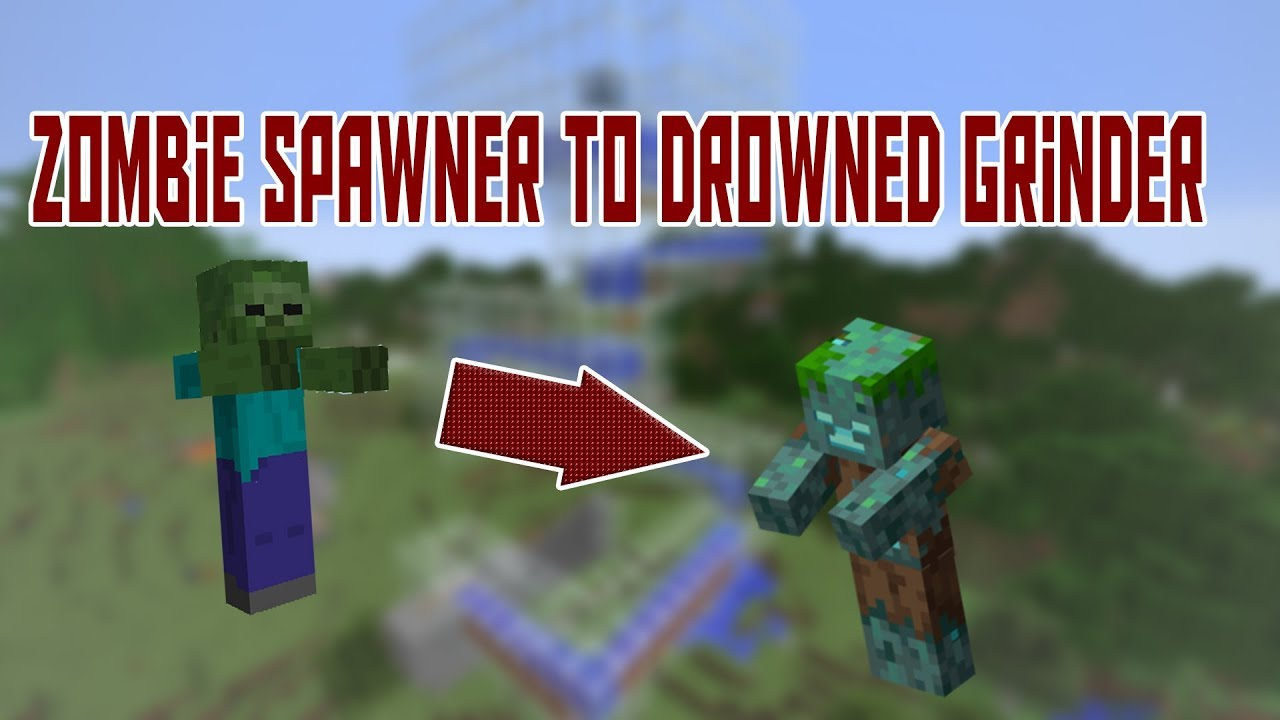 Turn Your Zombie Spawner into a DROWNED GRINDER | No Longer Works | 1 13,  Update Aquatic, Easy