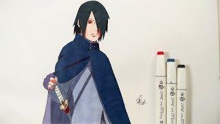 How To Draw Sasuke (Adult) - Step By Step (Tutorial) - Boruto