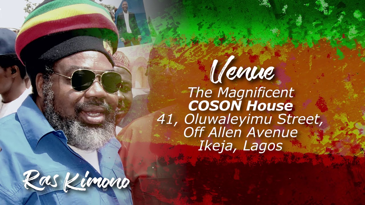 COSON HOUSE TO HOLD TRIBUTE NIGHT IN HONOUR OF RAS KIMONO