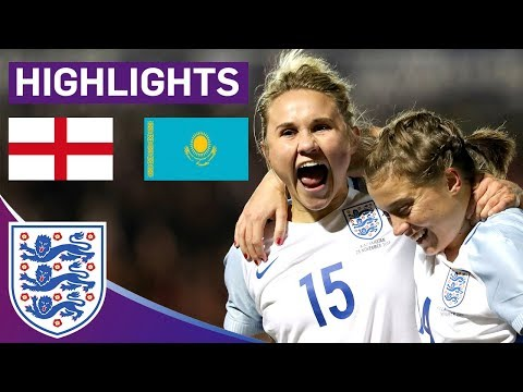 England Run Riot to Continue 100% World Cup Qualifying Record | England Women 5 - 0 Kazakhstan