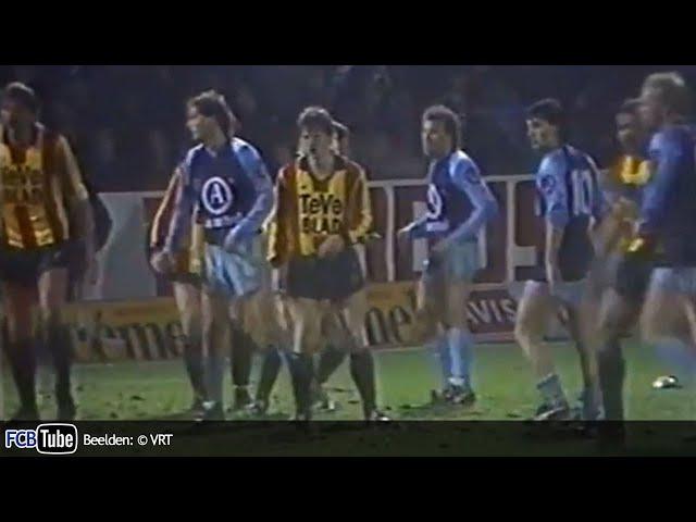 1987-1988 - Beker Van België - 04. 8ste Finale - KV Mechelen - Club Brugge 1-1