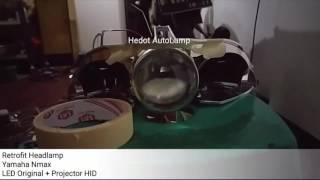 Modifikasi Yamaha Nmax Proji HID Cita Rasa Standar  - Hedot AutoLamp