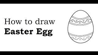 How to draw and design Easter egg drawing step by step