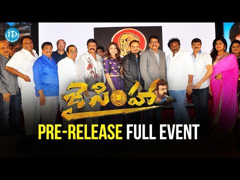 Jai Simha Pre Release Function FULL EVENT...