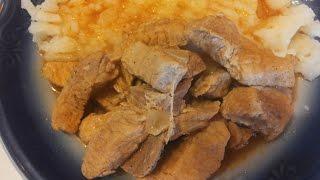 #Гуляш из свинины  с приправой  с Maggi Goulash pork with seasoning from Maggi