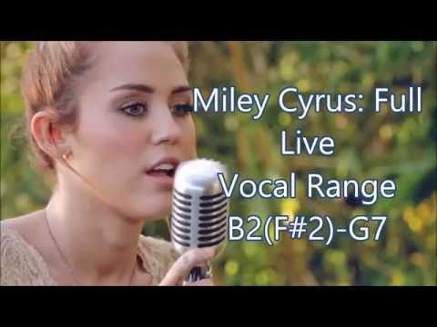 Miley Cyrus Full Live Vocal Range (F#2) B2 - G#5 - E6 - G7