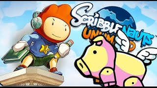 PIGS CAN FLY | Scribblenauts Unlimited #1
