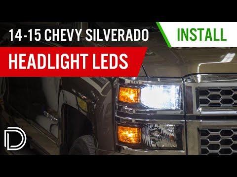 How To Install 2014-2015 Chevrolet Silverado Headlight LEDs | Diode Dynamics