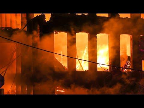 [ Marcal Paper Mill 10+ Alarm Fire ] Massive Inferno Destroys Complex - Elmwood Park New Jersey