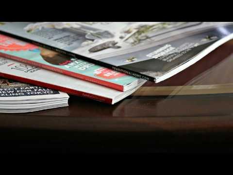 Soft Glossy Magazine Slow Page Turning - No Talking | White Noise for Sleep, Studying, Relaxation