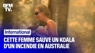 En Australie, cette femme a sauvé un koala qui s'est retrouvé piégé dans un feu de brousse
