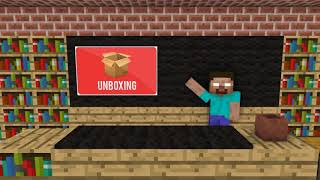 Monster school - Unboxing iPhone x Minecraft animation