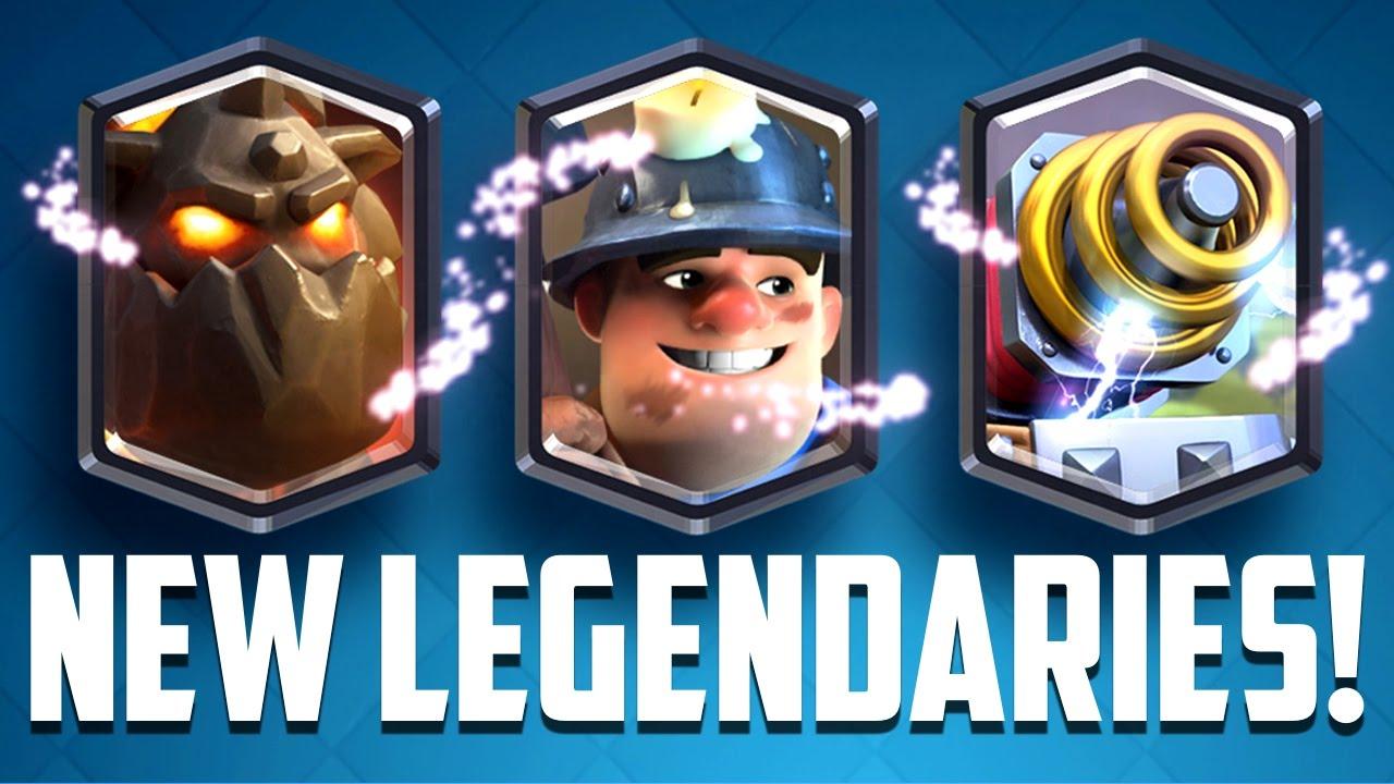 Clash Royale - NEW LEGENDARY CARDS! Sparky, Miner & Lava Hound ...