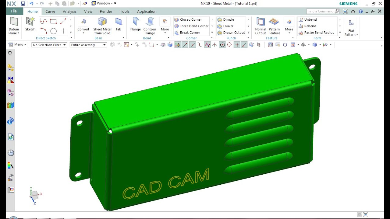 Siemens nx10 sheet metal tutorial 01 youtube siemens nx10 sheet metal tutorial 01 baditri Image collections