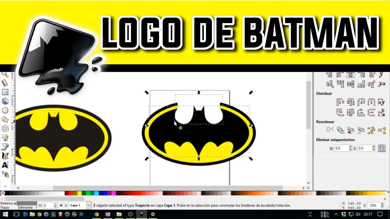 Como hacer el logo de Batman - YouTube