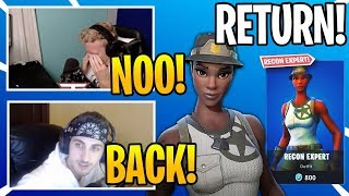 Streamers React To *RARE* RECON EXPERT SKIN COMING BACK To Fortnite (Rarest Skin)