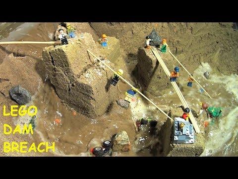 Lego Adventurers - Old Sand City Destruction. Dam Breach Film