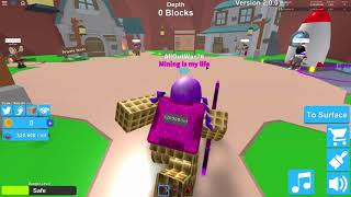 202 Rebirths one mine reset! Roblox Mining Simulator