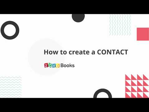 How to create customers and vendors in Zoho Books | India
