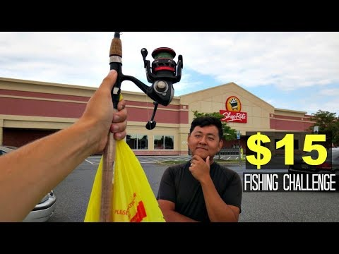 $15 Grocery Store Fishing Challenge!! (ft. Extreme Philly Fishing)