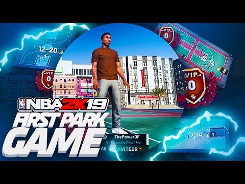 EARLY FIRST NBA 2K19 PARK GAMEPLAY! MY FIRST GAME W/ THE BEST PLAYER BUILD & ARCHETYPE?