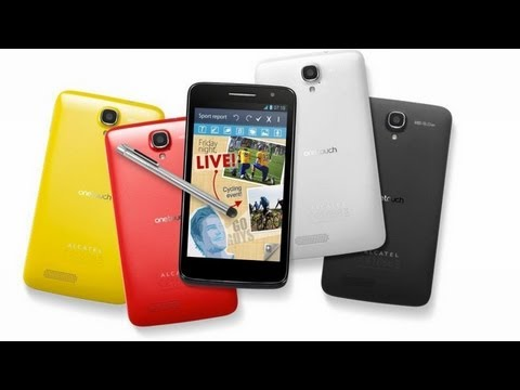 Alcatel OneTouch Scribe HD - Demo - MWC 2013
