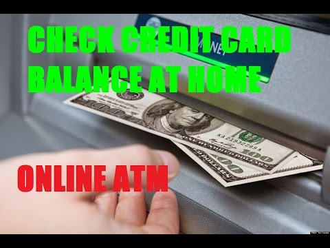 OnlineATM - Check your credit card balance from home ATM at Home