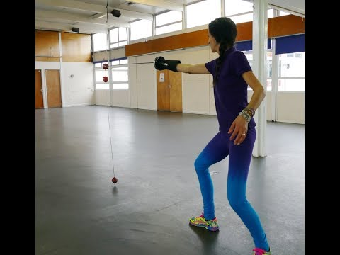 Fencing Training Target Epee Accuracy and Precision Cricket Ball Drill over 2 mins