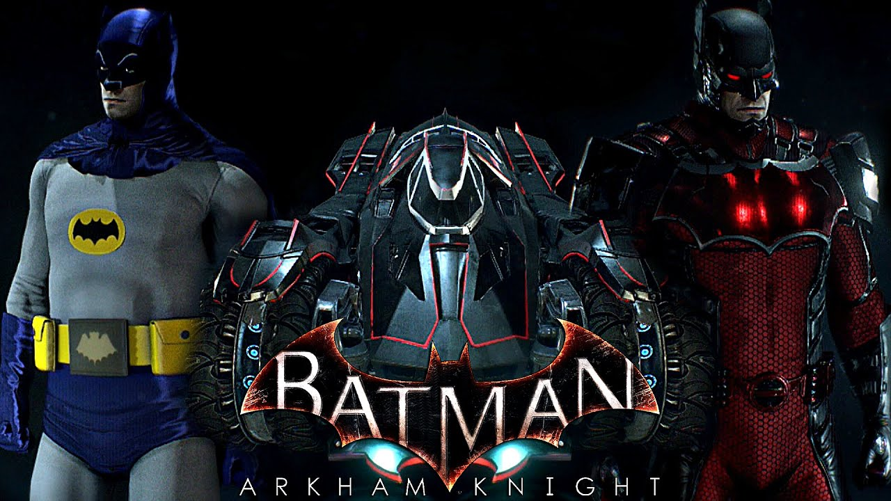 batman arkham knight ps4 exclusive skins gameplay youtube