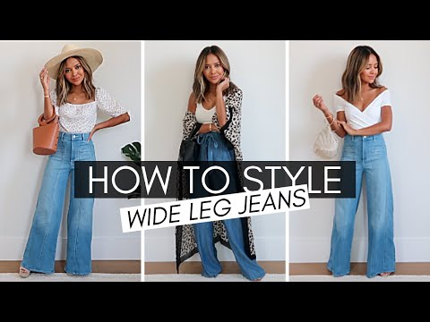 Fashion Finds - How To Style Wide Leg Jeans