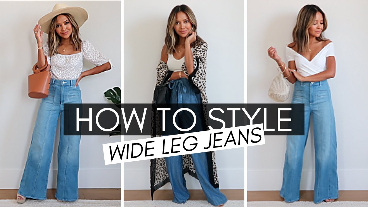 How To Style Wide Leg Jeans + Haul