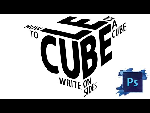 Writing Texts On Sides Of A Cube In Photoshop
