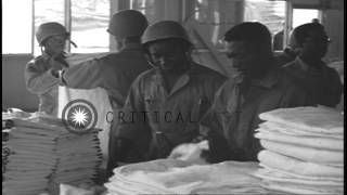 US Army IX Corps soldiers at the army hospital of the training center in the ...HD Stock Footage