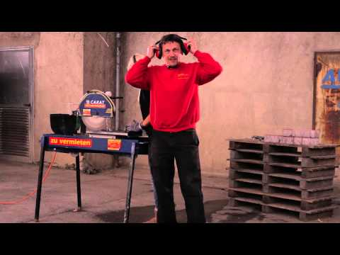 Video Nassschneidemaschine - Rentas Werkzeugvermietung