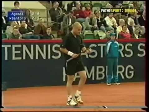 Hamburg 2001 R2 - Agassi vs Santoro
