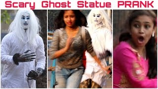 Epic GH0ST Statue Prank in India| Gone High HeartBeat|Funniest Reactions| FunkyTv|