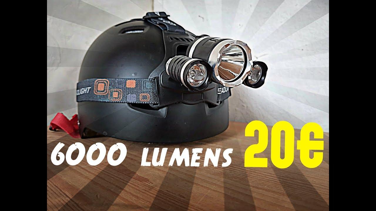 Lunaris2142 Teste Une Lampe Frontale 3 Led Cree T6 6000 Lumens