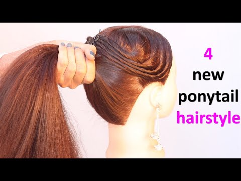 4-new-ponytail-hairstyle-for-everyday-  -hairstyle-for-girls-  -hairstyle-for-teenagers-  -hairstyle