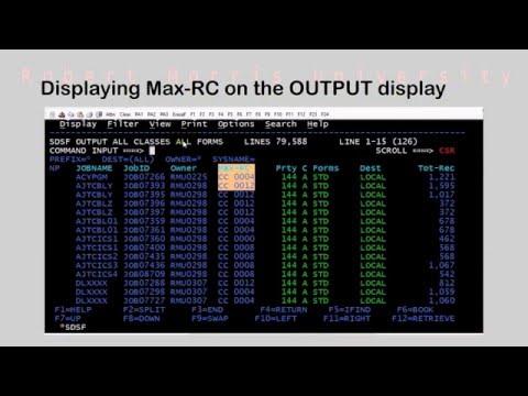 Navigating zOS   SDSF - Show me the Max-RC!