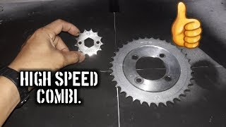 High Speed or More Power Sprocket Combination
