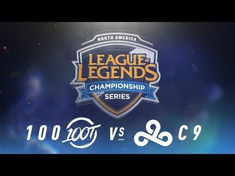 100 vs. C9 - Week 6 Day 1   NA LCS Spring Split   100 Thieves vs. Cloud9 (2018)