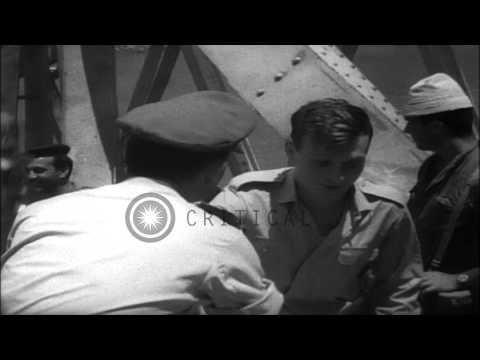 Israel And Jordan Exchange Prisoners Via The Allenby Bridge At Jordan-Israel Bord...HD Stock Footage