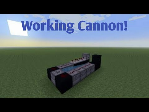 How To Make A Working Cannon In Minecraft! PS4/Xbox/PC
