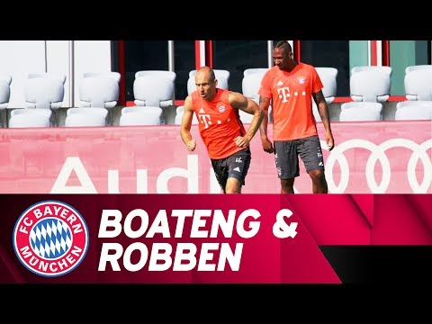 Robben & Boateng are working hard on their comebacks!💦 | FC Bayern