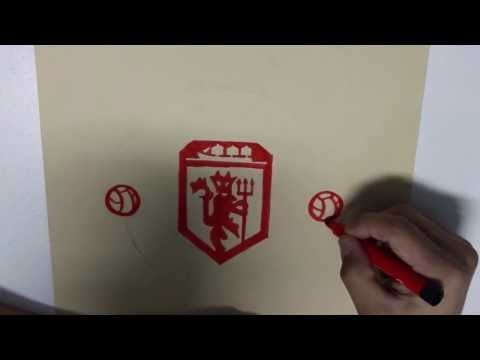 how to draw the manchester united logo step by step