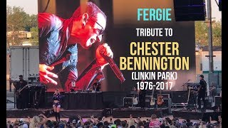 """Fergie pay tribute to Chester Bennington with """"Crawling"""""""